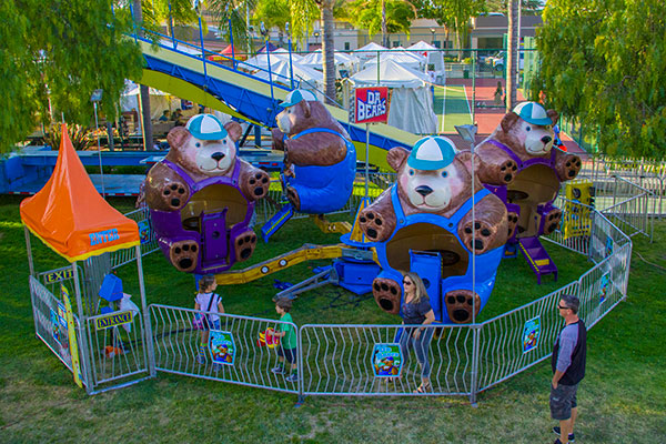 Carnival Midway Attractions Orange California Rides